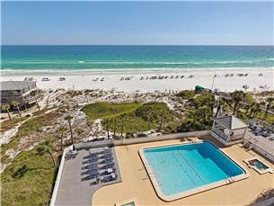 View of the Swimming Pool and Gulf of Mexico