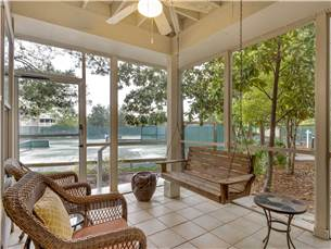 Screened Porch Overlooking Tennis Courts