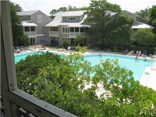 View of Large Pool from Porch