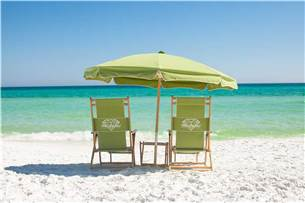 Complimentary Beach Chair Service of 2 Chairs and 1 Umbrella are Provided in Season