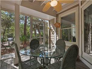 Walking trails along screened porch