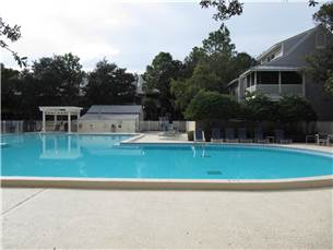 Large Pool steps from unit