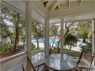 Screened Porch Overlooking large Pool