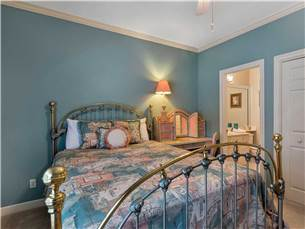 Guest bedroom with Queen Bed and adjoining bath