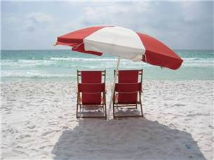 Complimentary Beach Chair Service of Two Chairs and One Umbrella