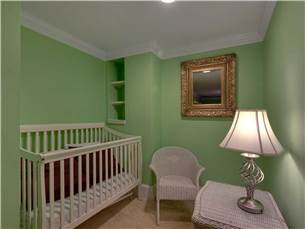 Baby Crib on 1st Floor inside Bunk Room