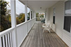 2nd floor wrap around deck with access from master and guest bedroom. Perfect for watching sunsets o