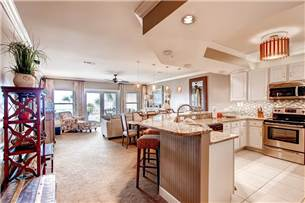 Kitchen, Dining and Living area