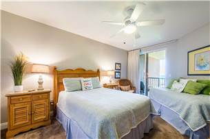 Guest Bedroom with Queen and Twin Beds