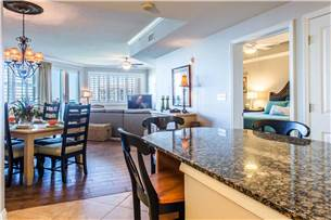 Kitchen overlooking Living and Dining Areas