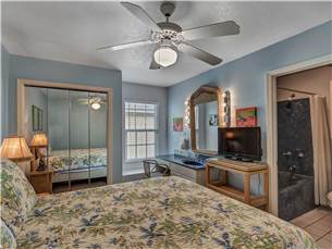 Guest bedroom with queen on 2nd floor with flat screen television