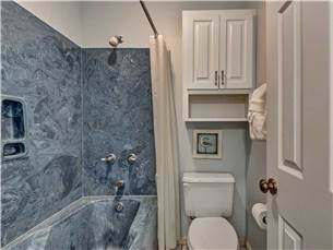 Private bath for queen guest room on 2nd floor