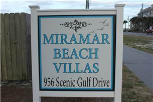 Entrance from Scenic Gulf Drive beach road