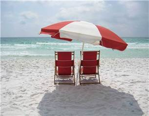 Three Sets of Complimentary Beach Service in Season