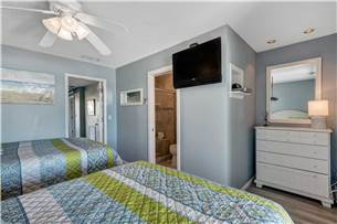 Guest Bedroom #1 on 1st Floor with 2 Queen Beds and Flat Screen TV