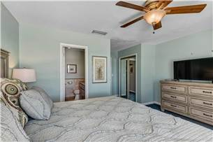 Master Bedroom on 3rd Floor with King Bed and Flat Screen TV