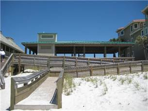 Crystal Beach Access with Picnic Tables and Wheel Chair Accessible Ramp