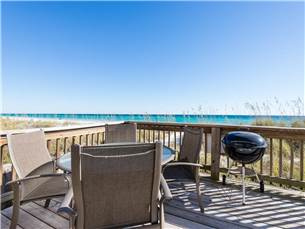 Beach Level Deck with Grill