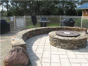 Community Fire Pit and Gas Grills
