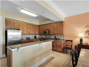 Open kitchen with plenty of space