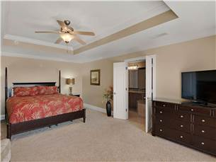 Master Bedroom on 2nd Floor with King Bed and Flat Screen TV
