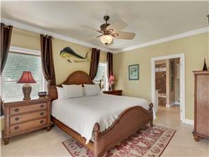Master Bedroom on Main Floor with King Bed