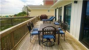 Spacious deck for grilling and relaxing