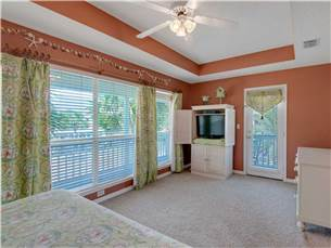 Large Master Bedroom on 2nd Floor with King Bed and Flat Screen TV