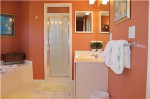Mater Bath on 2nd Floor with Jacuzzi Tub and Walk in Shower