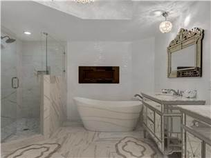 Master Bathroom with Tub and Walk-In Shower
