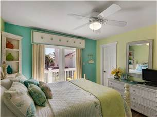 Guest Bedroom with Flat Screen and Balcony