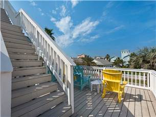 Stairs up to the Hammocks from the 2nd Floor Balcony