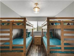 Bunk Room with Two Sets of Bunks Located on 2nd Floor