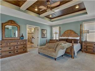 Master Bedroom with King Bed located on 3rd Floor