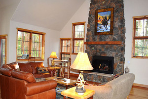 Family room with Fire Place view.