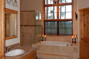 Master Bath with tub and shower view.