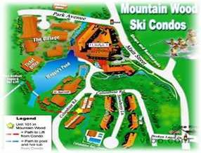Map showing the 50 yard walk to the lifts and hot tubs.