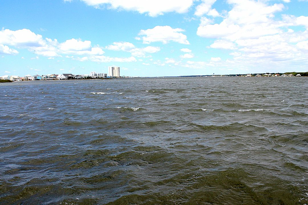 View of Lagoon Looking West off Community Pier