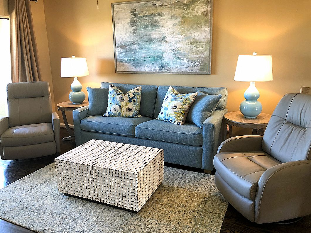Living Room with brand new furniture!