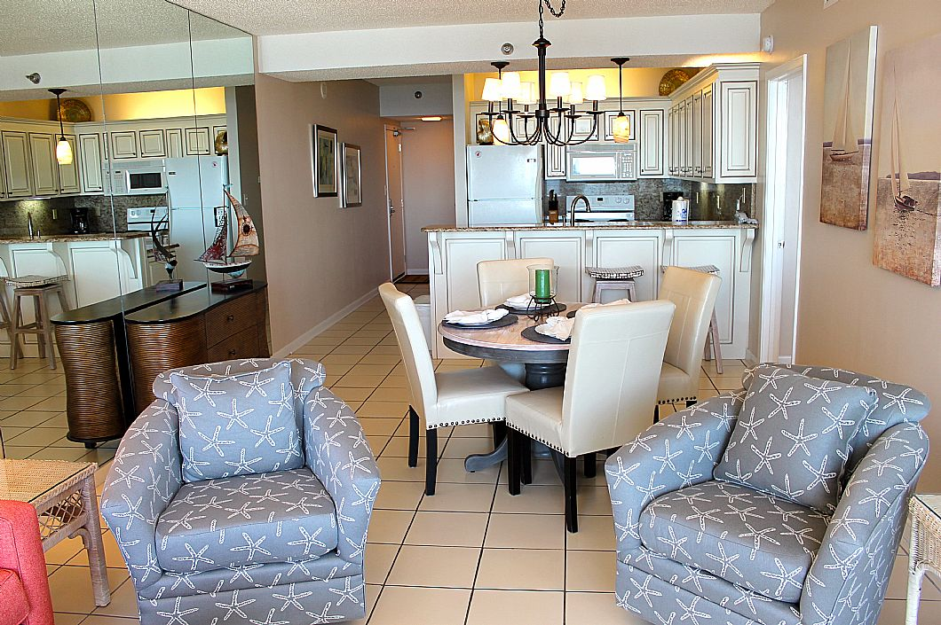 Beachy chairs & dining room table