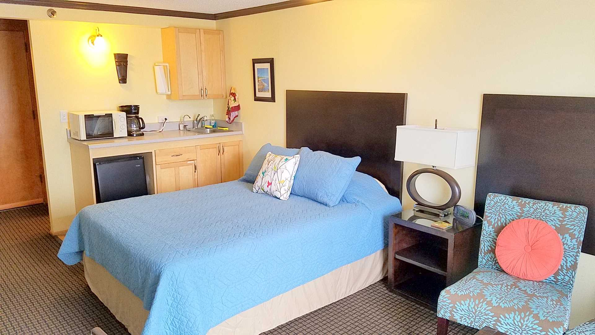 The unit is spacious and comfortable and includes everything needed for an enjoyable stay