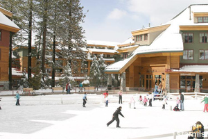 The Marriott has its own ice skating rink in the winter, and putt-putt golf in the summer