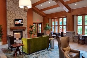 Multiple lobby areas for gatherings and relaxing.