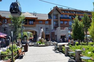 Park area below Gondola with restaurants and shopping
