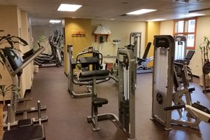 Fully equiped Fitness center with TV's.  There is also a Spa & Sauna
