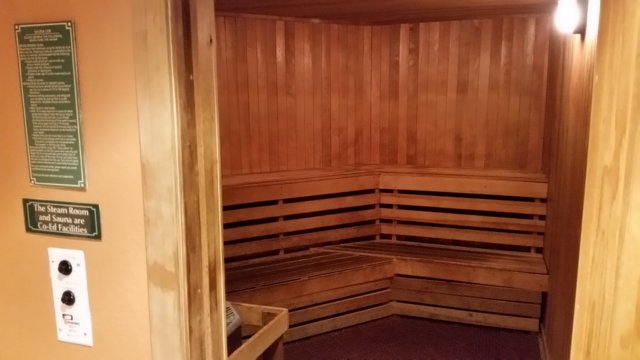 Large sauna and steam rooms