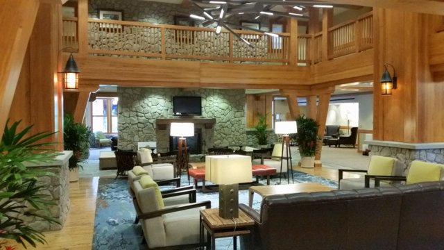 Multiple lobby areas.  There is also an owners lounge with a pool table, which our guests are entitled to