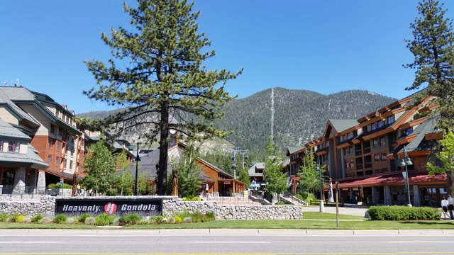 The Marriott Grand Residence (on the right) is next door to the Gondola
