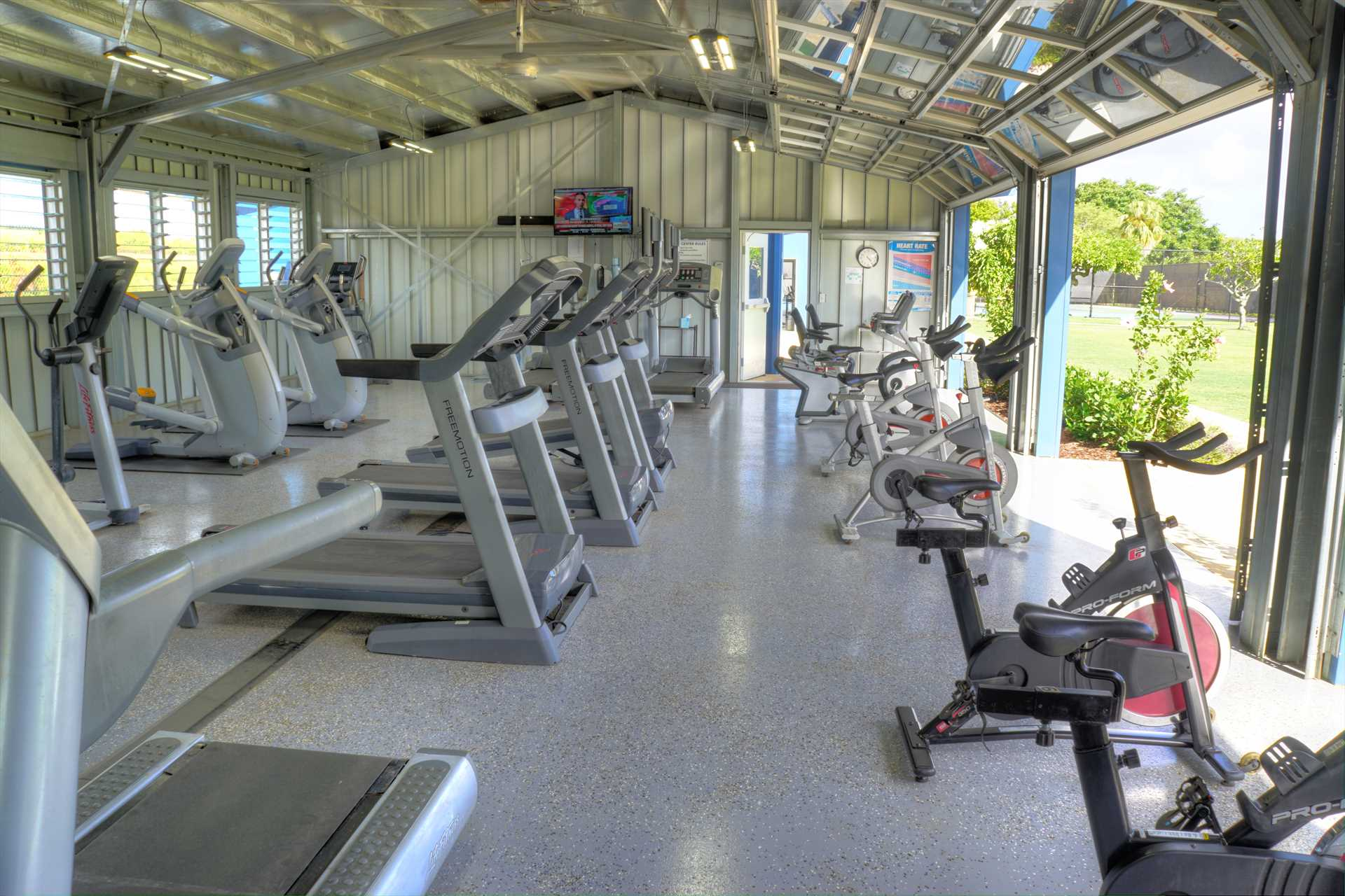 Cardio workout room at Poipu Club, included with reservation