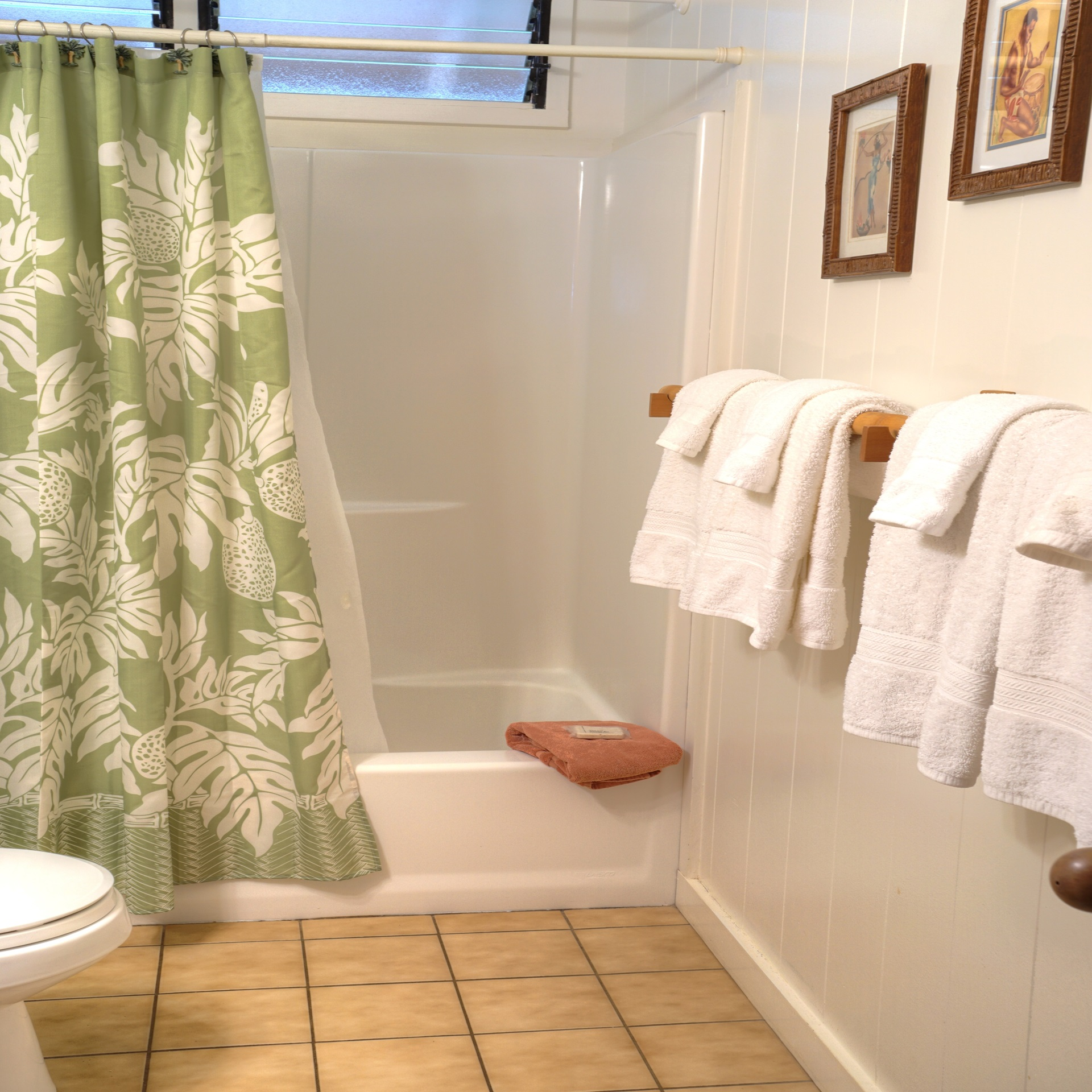 Guest bath in hall